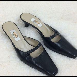 Talbot Mule Kitten Heel 6.5 Black